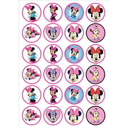 Minnie Mouse 24ct Edible Icing Image Cupcake Toppers