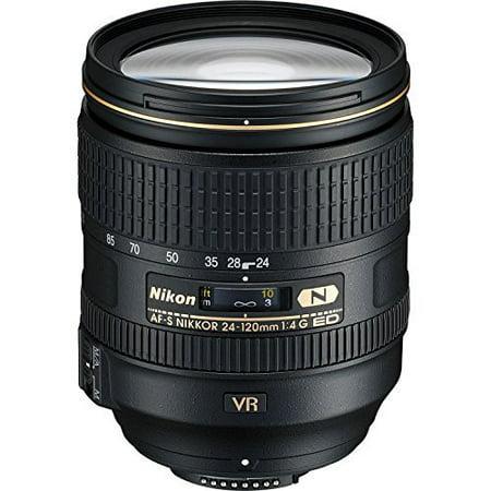 Nikon AF-S FX NIKKOR 24-120mm f/4G ED Vibration Reduction Zoom Lens with Auto Focus for Nikon DSLR Cameras International Version (No - Camera Vibration Mount