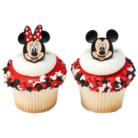 On SALE 12 Mickey And Minnie Mouse Cupcake Cake Rings Party Favors (Cupcakes Minnie Mouse)