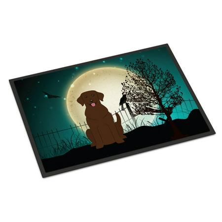 Halloween Scary Chocolate Labrador Door Mat - Labrador Halloween Pics