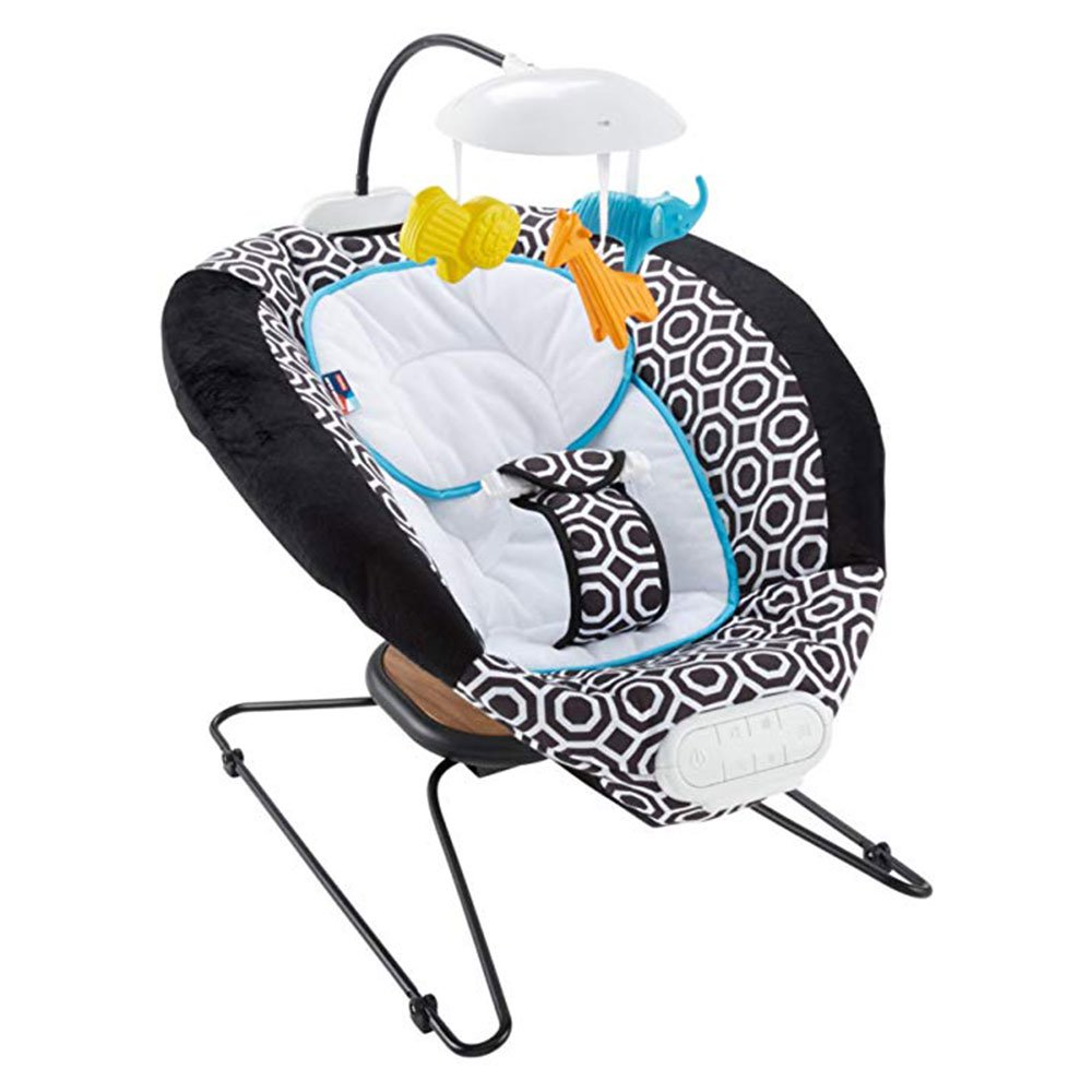 Fisher Price Jonathan Adler Crafted Deluxe Bouncer w  Music and Soothing Bounce by Fisher-Price