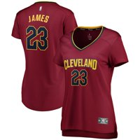 LeBron James Cleveland Cavaliers Fanatics Branded Women's Fast Break Iconic Edition Jersey - Wine