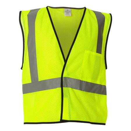 ML Kishigo 1193-1194 Men's Economy One Pocket Mesh Vest - Lime - 2X-Large / 3X-Large