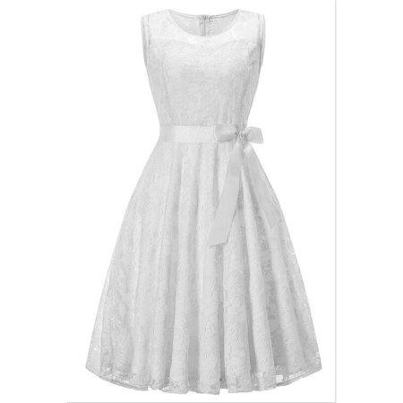 2018 summer Girls Sleeveless Princess Dress Girl Lace Clothes Homecoming