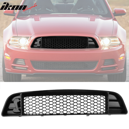 2013 Mustang Front Bumper >> Fits 13 14 Ford Mustang Shelby Gt500 Front Bumper Upper Grille With Mesh Black