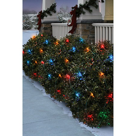 holiday time 70 count led net christmas lights mutli color