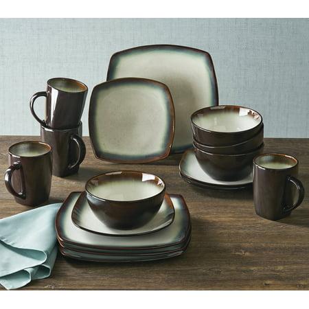 Better Homes & Gardens White Garner Textured Dinnerware, 16 Piece