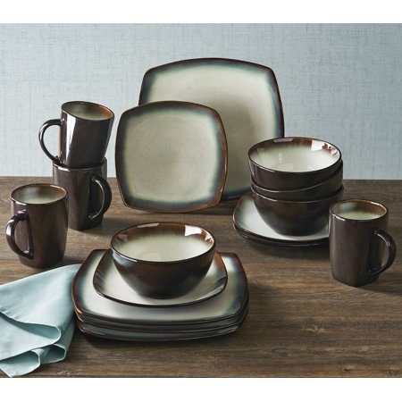 Better homes gardens garner textured dinnerware white - Better homes and gardens dish sets ...