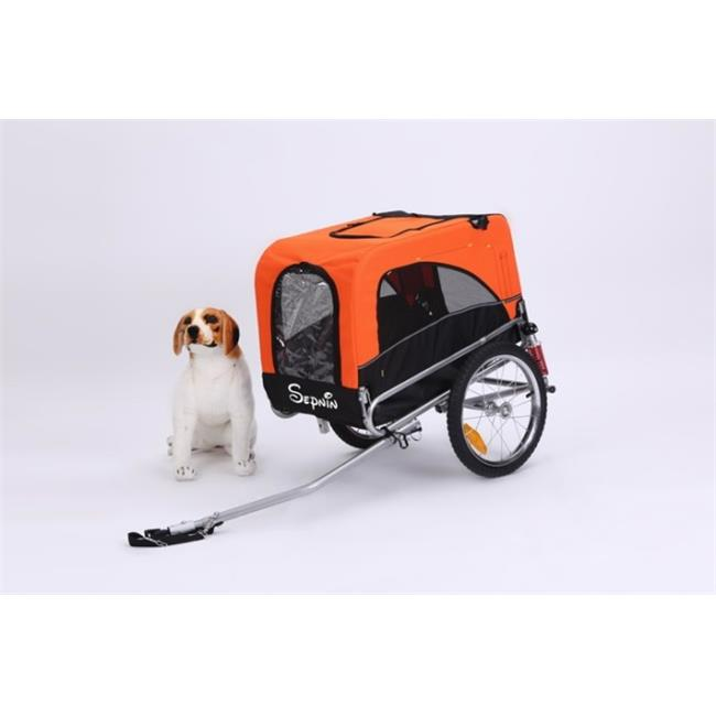 sepnine 10308-red bicycle pet trailer with suspensions, red