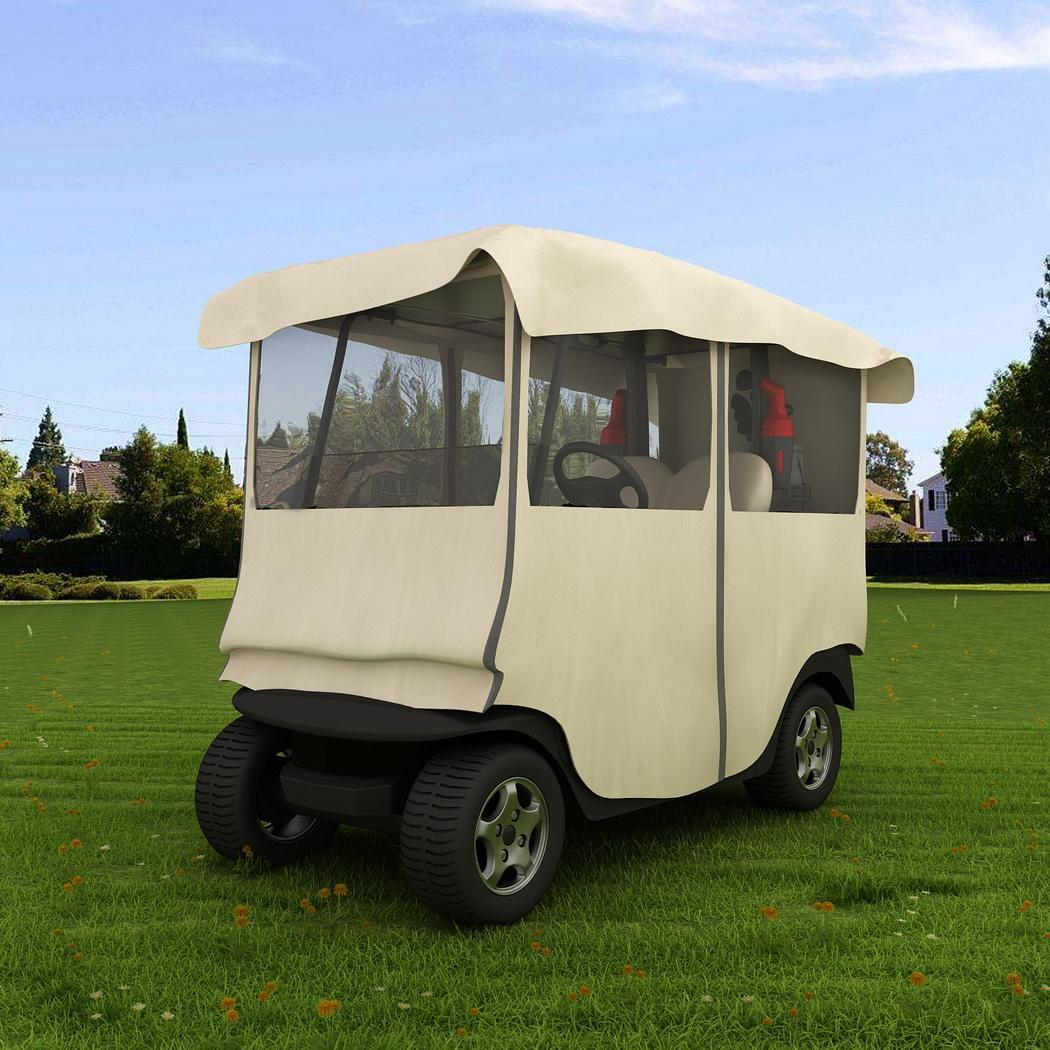 300D Polyester Golf Cart Cover Portable 4 Passenger Stora...