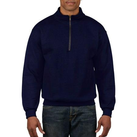 (Gildan Men's 1/4 Zip Cadet Collar Sweatshirt)