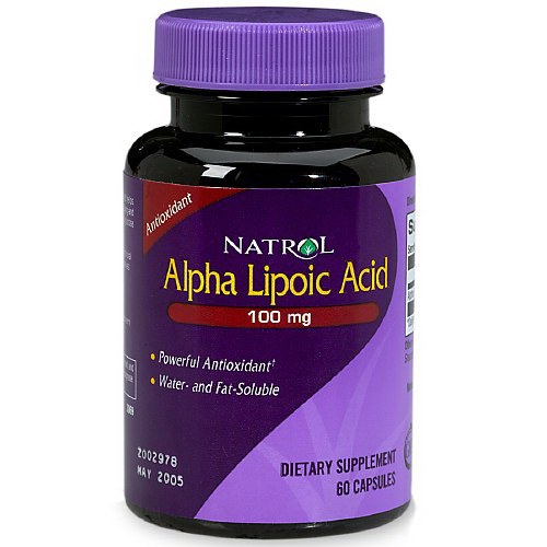 Natrol Alpha Lipoic Acid 100 Mg Capsules, Dietary Supplement - 60 Ea