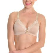 Angelina Wire-Free Molded Cup Bras with Lace Trim (6-Pack)