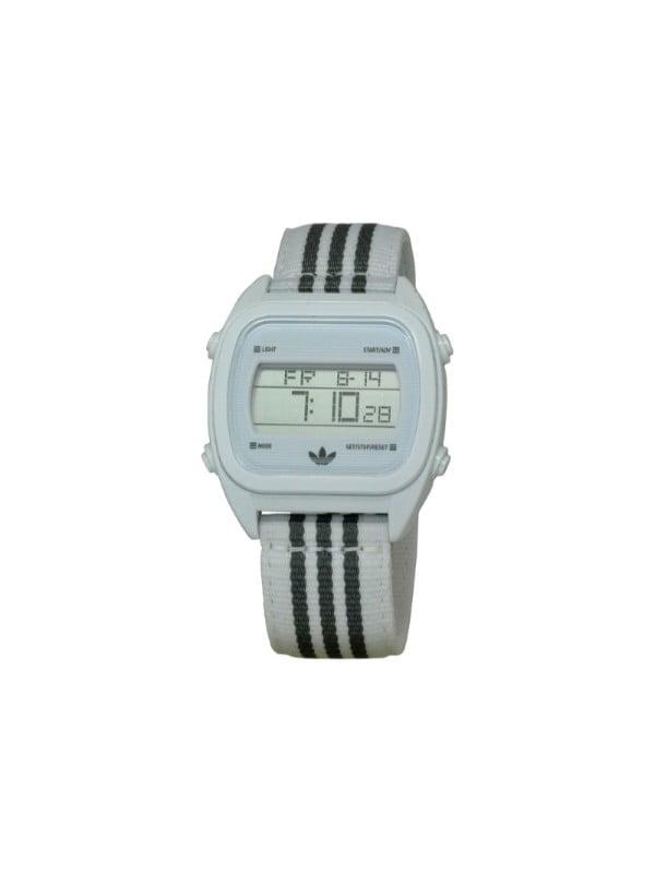 Adidas ADH2732 Unisex Sydney Digital Dial White & Grey Nylon Strap Chronograph Watch by Adidas