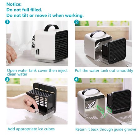 Gohope Personal Air Cooler, Personal Air Conditioner for Office Desk, Small Portable Air Conditioner, Mini Air Conditioner Room Cooler - image 7 of 7