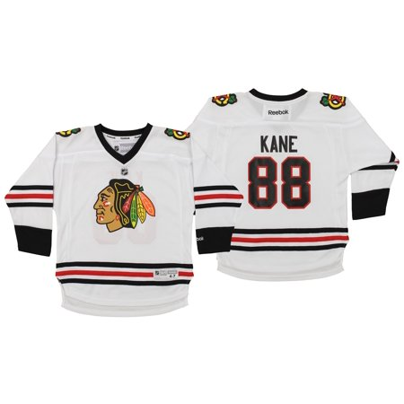 33ec00fc1d7 Reebok NHL Kids Chicago Blackhawks Patrick Kane #88 Player Jersey, White -  Walmart.com