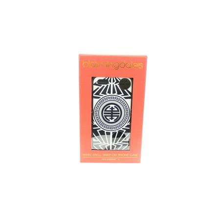 Bloomingdales Black White Printed Hard Shell Snap On Iphone 5 Case Osfa