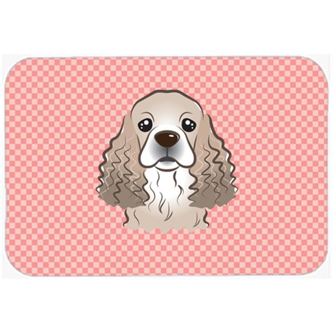 Carolines Treasures BB1154MP Checkerboard Blue Cocker Spaniel Mouse Pad, Hot Pad Or Trivet, 7.75 x 9.25 In. - image 1 of 1