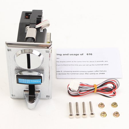 Vending Machine Arcade Card (PC Plastic Multi Coin Acceptor Mechanism Vending machine Arcade Game Machine Coin)