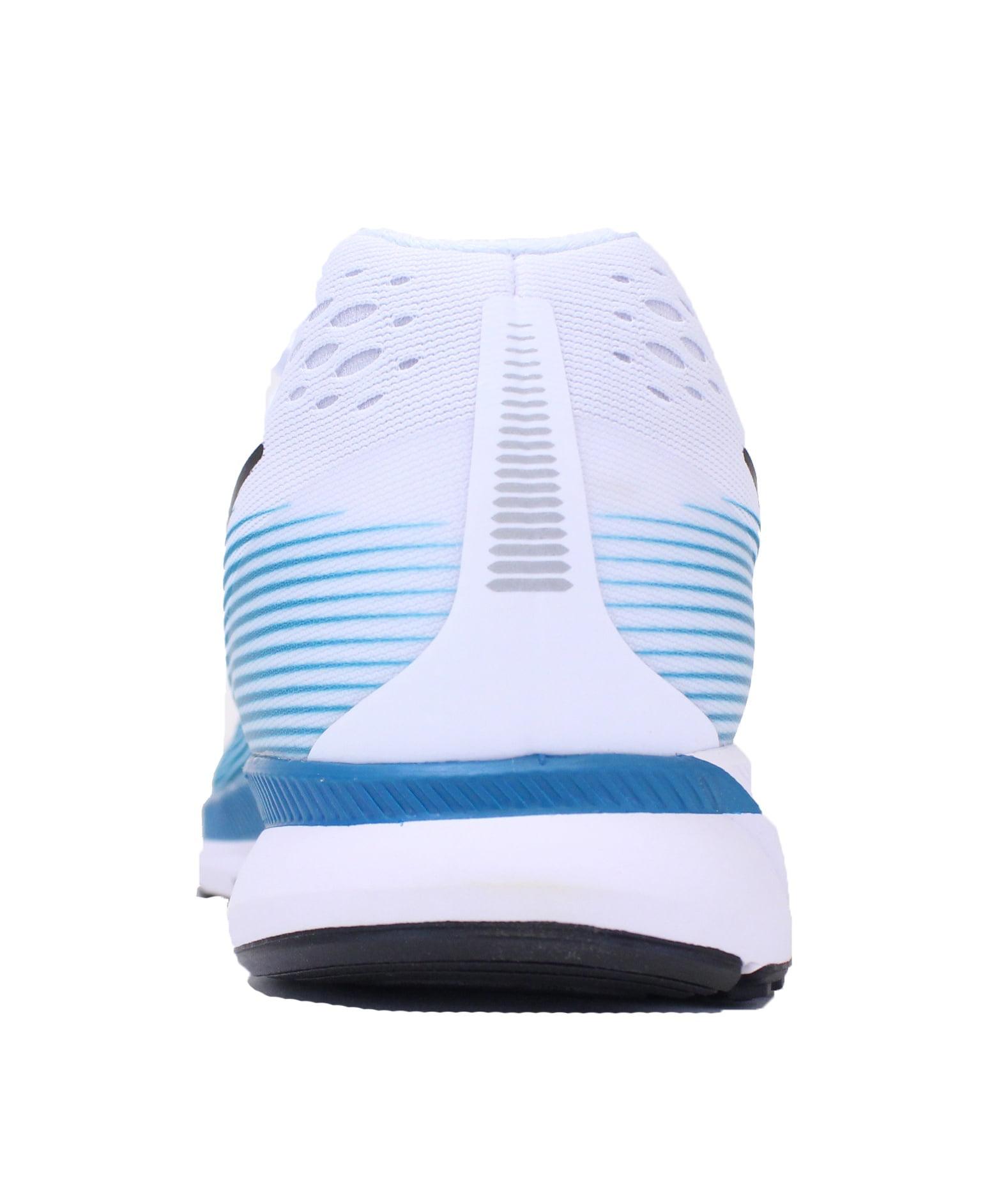 NIKE AIR ZOOM PEGASUS 34 SZ 14 BLUSTERY BLUE WHITE BLACK RUNNING SHOE 880555 101