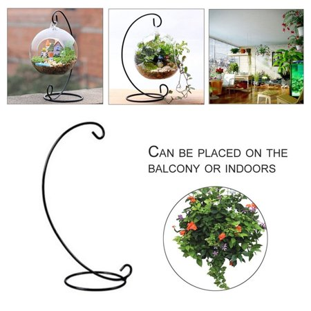 23CM Metal Iron Candlestick Holder Flower Vase Plant Glass Bottle Stand - image 5 de 5