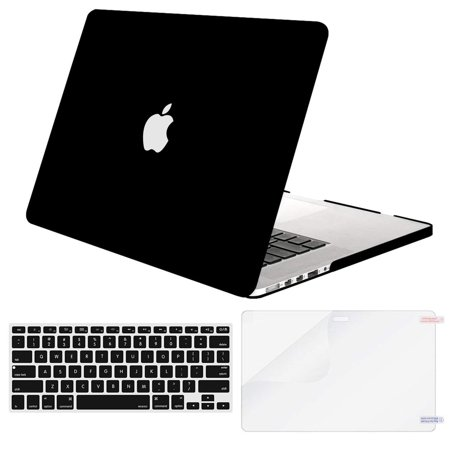 MOSISO Case Only Compatible Older Version MacBook Pro Retina 13 Inch (Model: A1502 & A1425) (Release 2015 - end 2012), Plastic Hard Shell & Keyboard Cover & Screen Protector, (Retina 13 Inch Early 2015 Model Number)