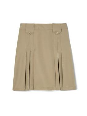 French Toast Girls Plus School Uniform Adjustable Waist Front Tab Pleated Skirt (Plus)