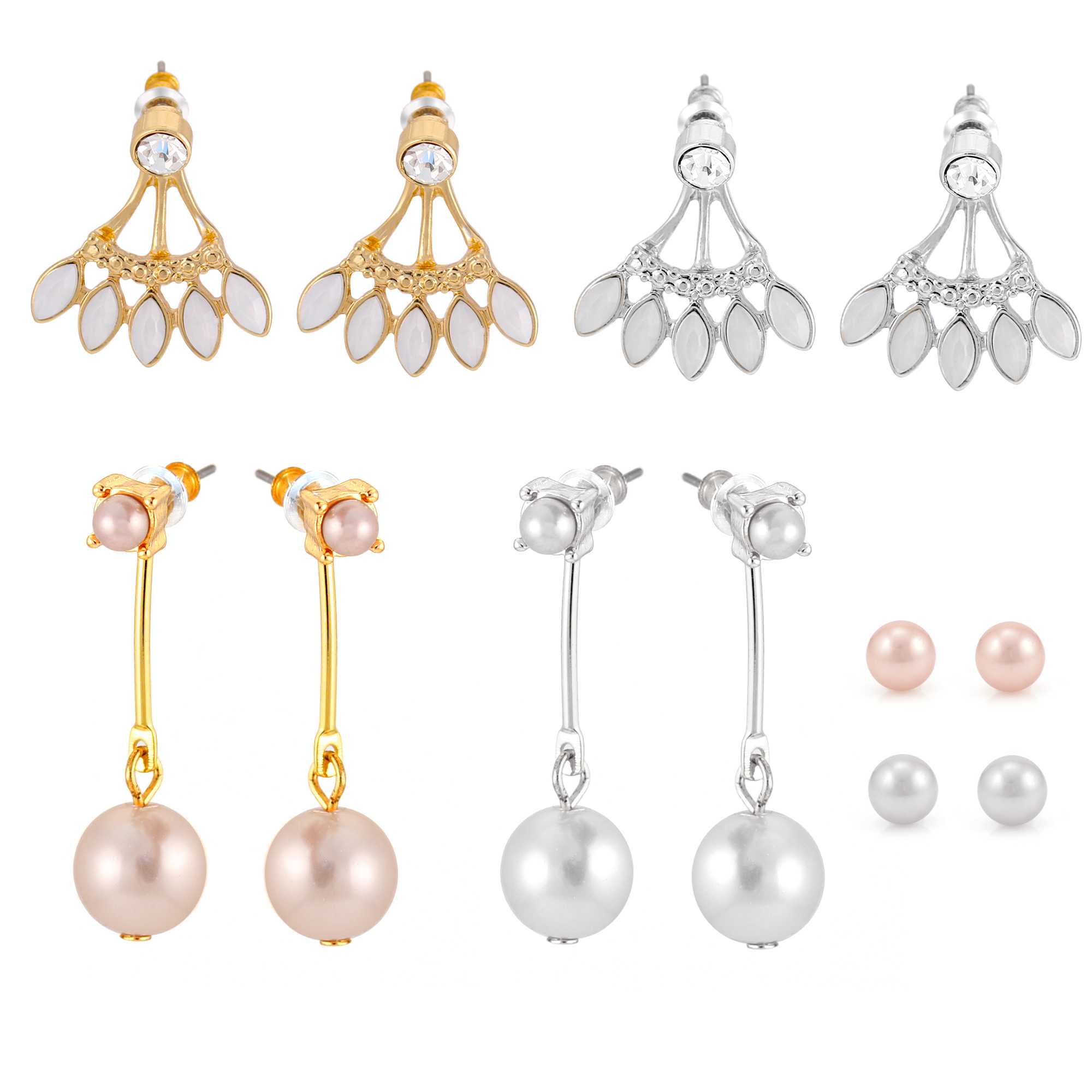 6-on Pearl F/b Fan Stud/drop/fan