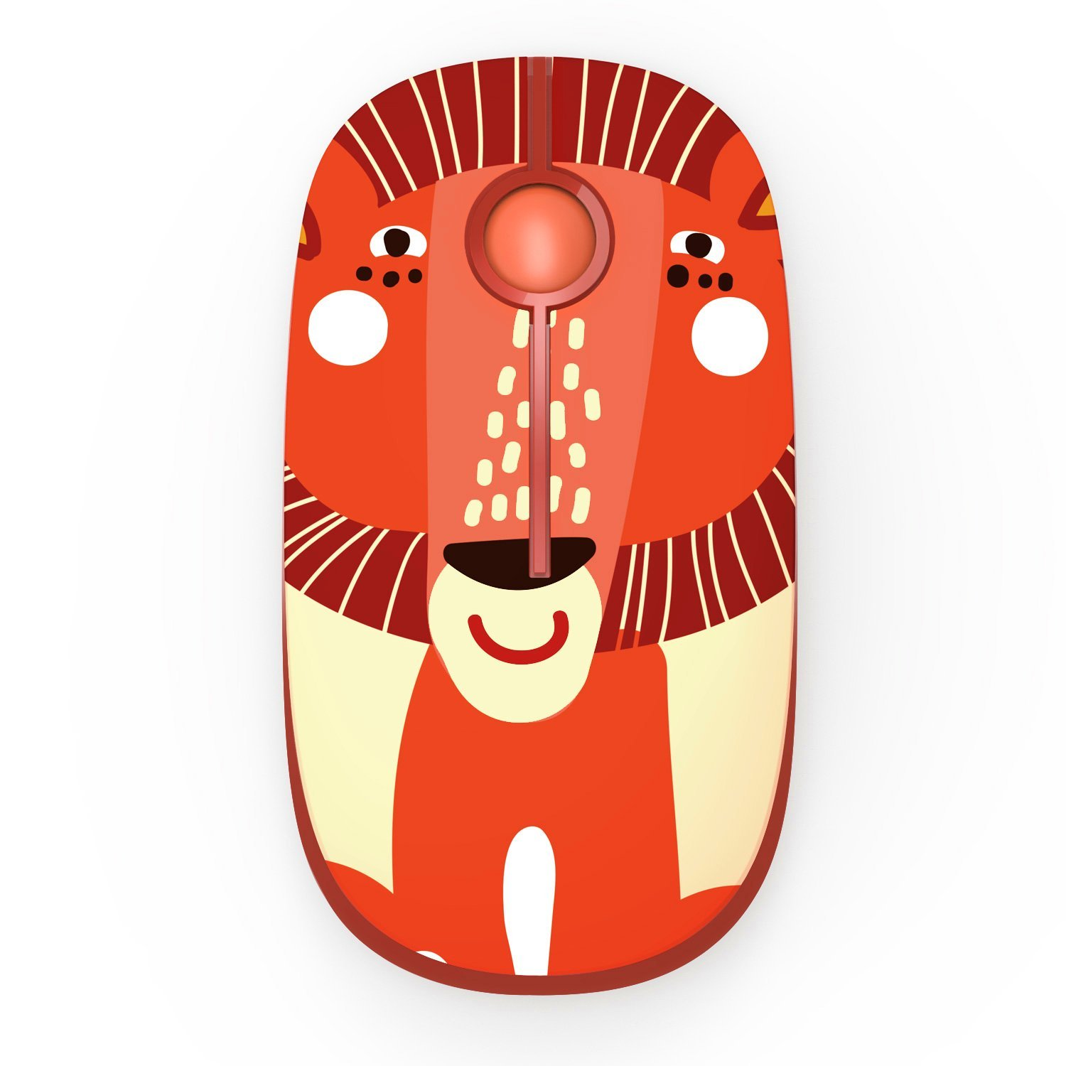 Jelly Comb 2.4G Slim Wireless Mouse with Nano Receiver (Lion)