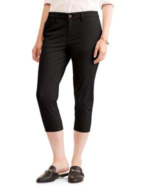 b7639d67bc0 Product Image Faded Glory Women s Chino Capri Pants
