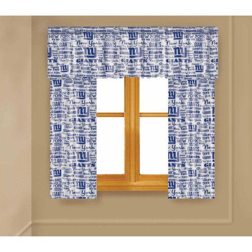 NFL New York Giants Window Curtain Panels