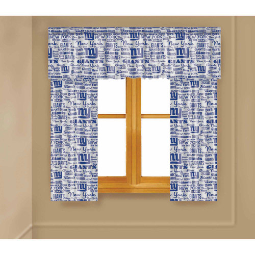 NFL New York Giants Window Curtain Panels