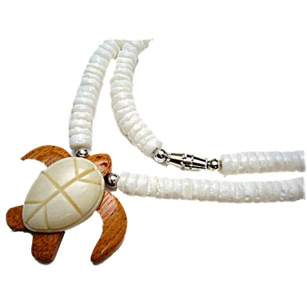 Online Hawaiian Honu Turtle Carved Bone Wood Pendant Necklace Walmart Com Walmart Com