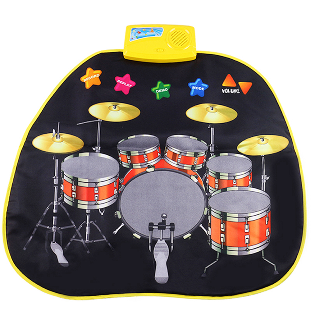 Heepo Baby Kids Jazz Drums Musical Play Mat Rug Multiuse Music Educational Toy Gift