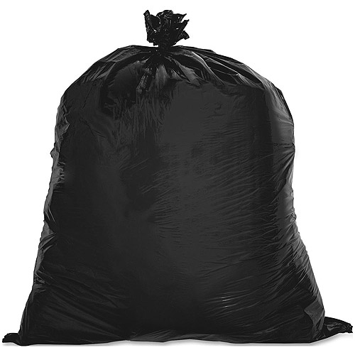 Genuine Joe Linear Low Density Trash Bags, Black, 60 gal, 100 count