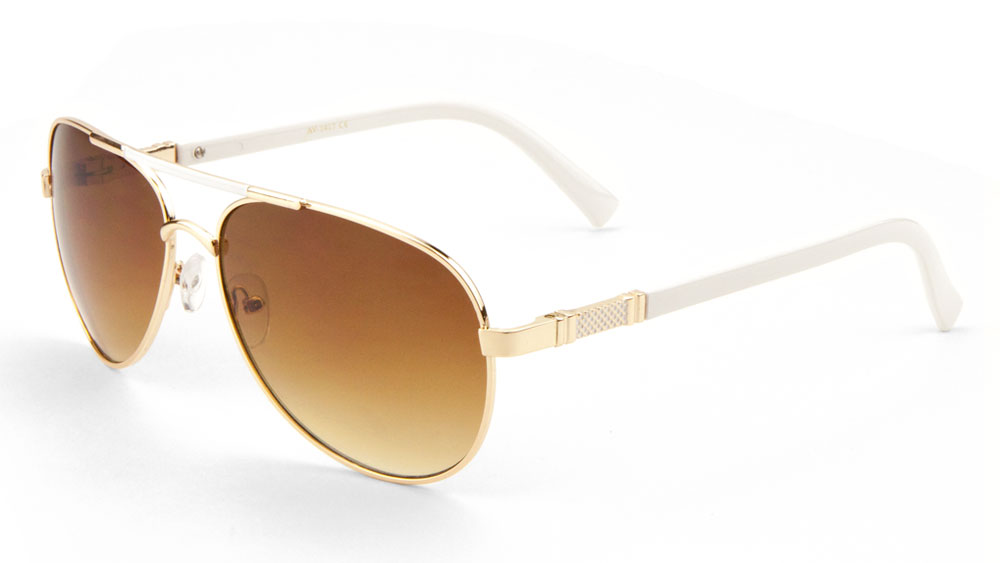 2e0b1c34cdd MLC Eyewear - MLC Eyewear  Cher  Double Bar Aviator Fashion Sunglasses  Ocean Gradient Lens Gold-white - Walmart.com