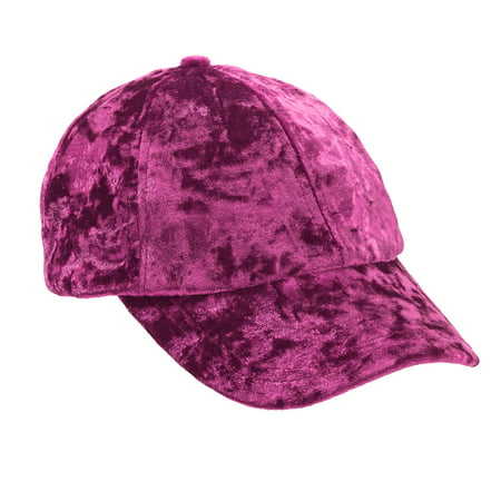 Women's Velvet Baseball Cap (Silver Disc Top Cap)