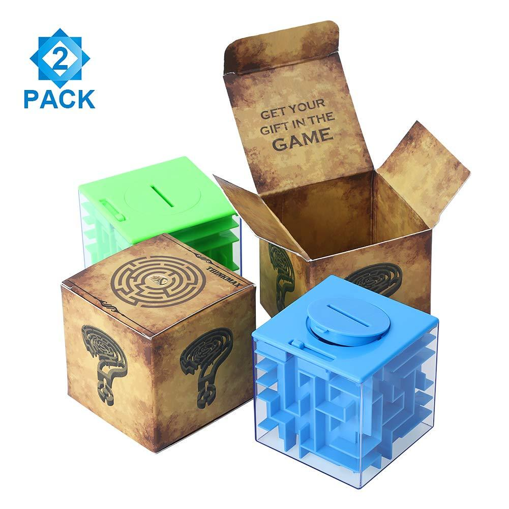 Perfect Money Holder Puzzle and Brain Teasers for Kids and Adults 2 Pack Money Maze Puzzle Box