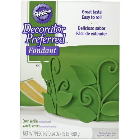 Wilton Decorator Preferred Fondant, Green, 24oz - Store Bought Fondant