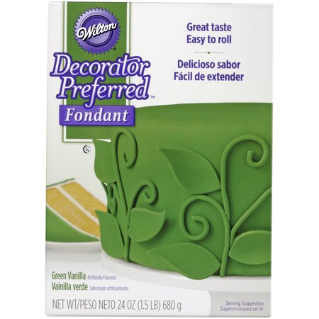 Wilton Decorator Preferred Fondant, Green, - Halloween Cupcake Ideas With Fondant