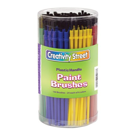 Creativity Street® Economy Paint Brushes, Plastic Handle - 144 per pack, 2 packs
