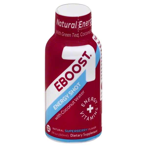 EBOOST Energy Shot, Natural Superberry Flavor