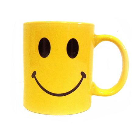 Faces Coffee (Yellow Retro Smiley Face Coffee Cup Mug-Ceramic-8)