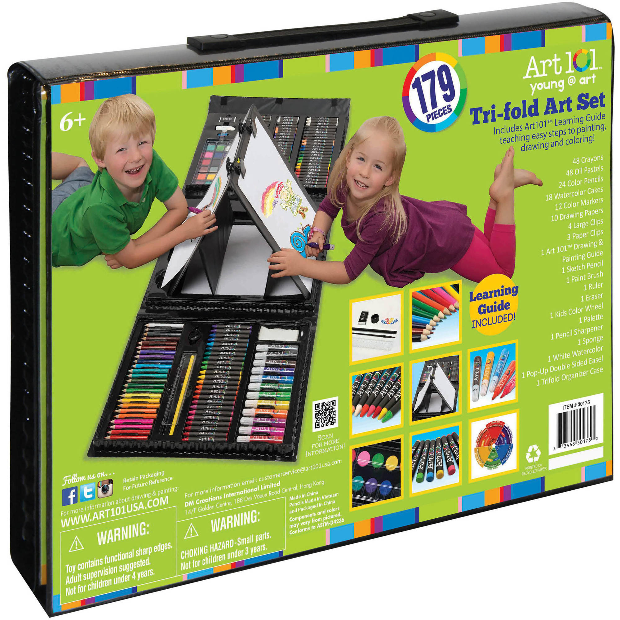 Art 101 Junior Artist Set, 179-Piece Art Set