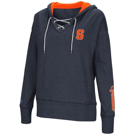 Syracuse Orange Womens Ncaa   Rhymes   Lace Up Pullover Hooded Sweatshirt