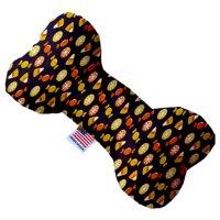 Halloween Candy Confetti 8 Inch Canvas Bone Dog Toy