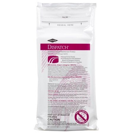 - Saalfeld Redistribution Dispatch Surface Disinfectant Cleaner - 69260-PK - 60 Each / Pack