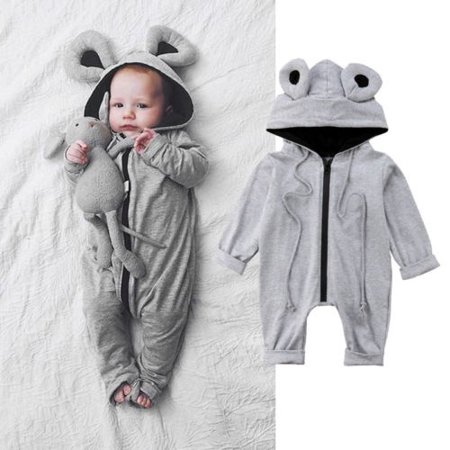 - Infant Baby Toddler 3D Frog Clothes Long Sleeve Romper Jumpsuit Playsuit Outfits