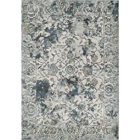 d944c978c1e8e Abani Vista Persian Inspired Area Rug, Gray Floral Tie-Dye Vintage, 7'9