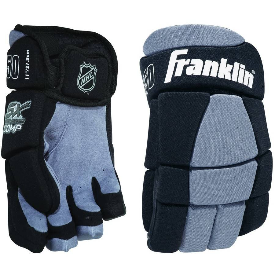 "Franklin Sports NHL SX Comp Hockey Gloves 150 Jr, S, 10"" by Franklin Sports"
